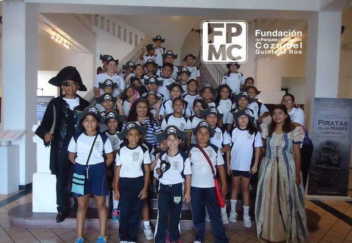 La Fundación de Parques y Museos de Cozumel realizó un programa para alumnos de primaria. (Redacción/SIPSE)