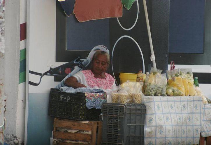 Aproximadamente mil familias dependen del comercio informal en la capital. (Harold Alcocer/SIPSE)