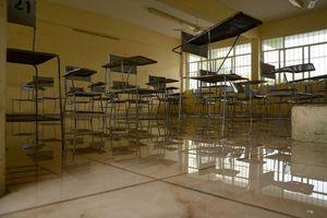 Escuelas afectadas por lluvias en Cancún