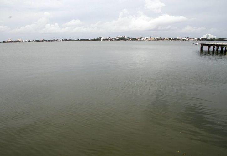El puente cruzará la laguna ubicada en la zona hotelera. (Tomás Álvarez/SIPSE)