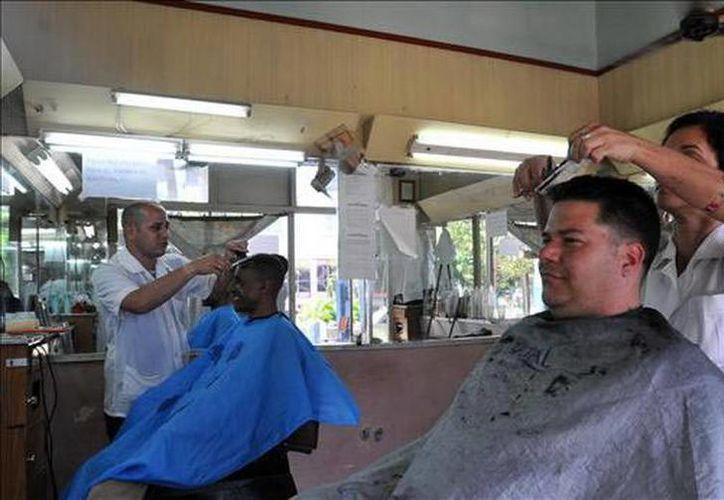 """Una queja de los dueños de las nuevas barberías y peluquerías es que no tienen """"un mercado mayorista donde adquirir los insumos"""". (EFE/Archivo)"""