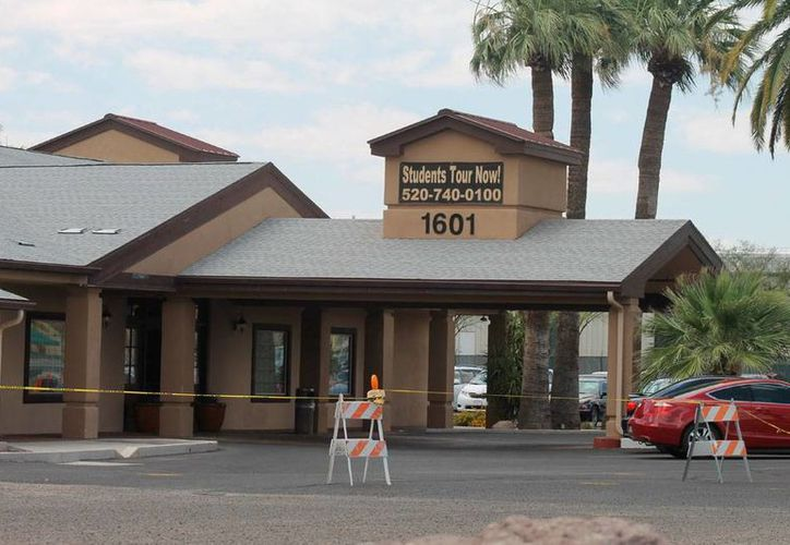 Imagen de un edificio que las autoridades de Arizona utilizan como albergue de niños migrantes. La Patrulla Fronteriza asegura que integrantes de la Mara Salvatrucha reclutan niños migrantes en los albergues. (Imagen de contexto/Archivo-Efe)