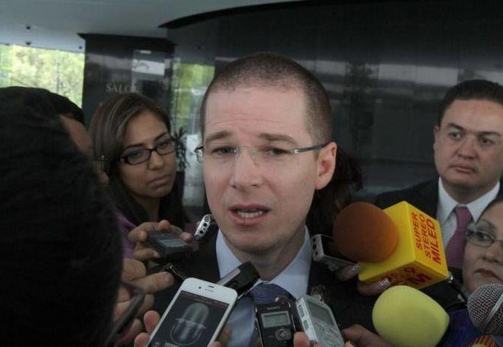 Anaya: el código procesal único contribuirá a mejorar la situación en estados como Michoacán y Guerrero. (Notimex/Archivo)