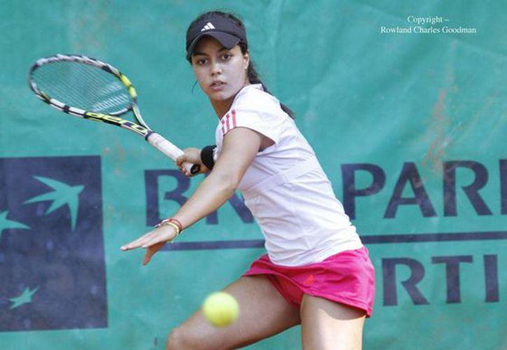 Renata Zarazúa es la única tenista mexicana que queda con vida entre las 16 finalistas del Abierto Juvenil Mexicano. (wta96.com/Foto de archivo)