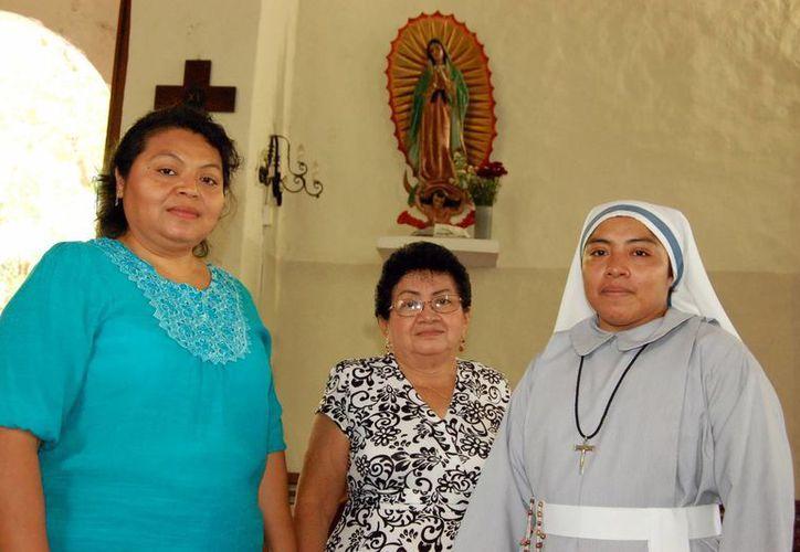 Promotoras de la peregrinación de la parroquia de Chuburná. (Milenio Novedades)