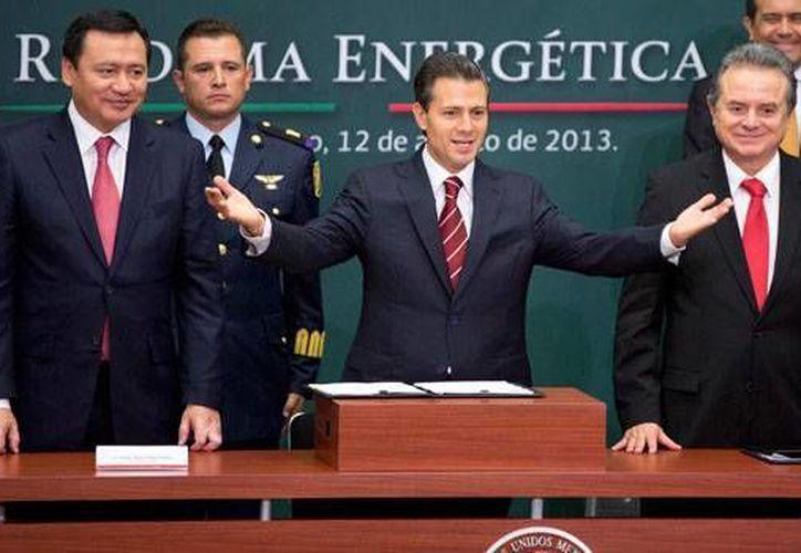 El presidente Enrique Peña Nieto durante la presentación de la Reforma Energética. (Archivo/Notimex)