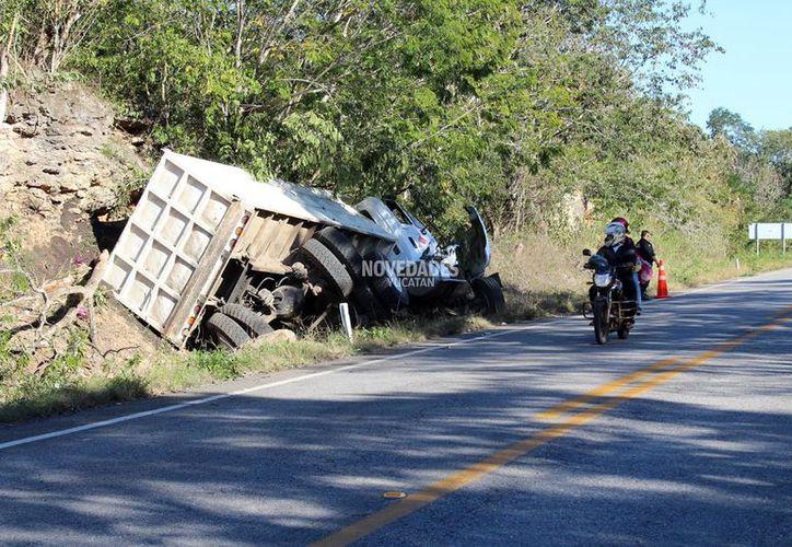 Por suerte el camión sin control no se estrelló contra otro vehículo.