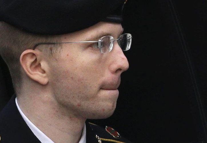 Manning mantuvo la compostura ayer después de escuchar la sentencia. (Agencias)