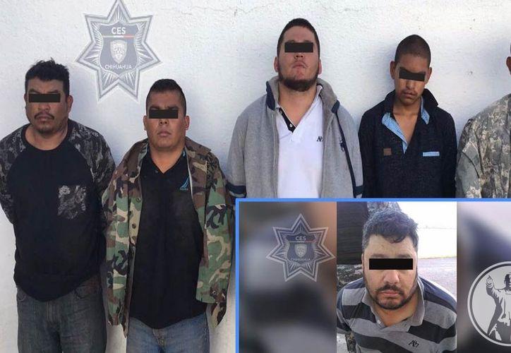 """El gobernador Javier Corral Jurado anunció la captura de Julio 'N', alias """"El Tigre"""", y a cinco integrantes del Nuevo Cártel del Tigre."""