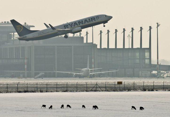 Un avión de pasajeros despega en el aeropuerto de Berlín-Brandeburgo en Schönefeld (Alemania). (EFE/Archivo)