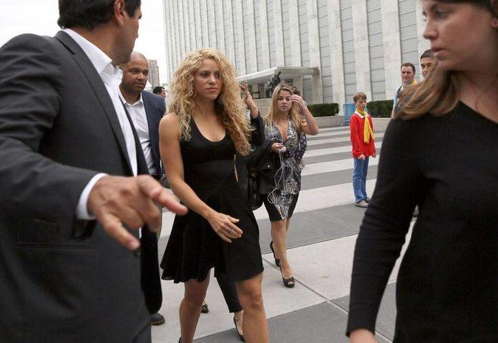 La cantante Shakira estuvo en la ONU, en donde cantó, tras la visita del Papa Francisco. (AP)