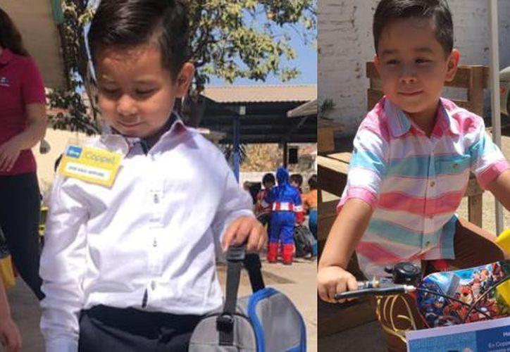 La madre del menor compartió las fotografías de su hijo disfrutando su regalo. (Facebook Maritza Ramirez)