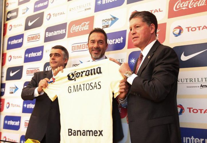 Matosas se encuentra tan emocionado que siente 'mariposas en el estómago' ante su debut como director técnico del América, este sábado frente a León. (Notimex)