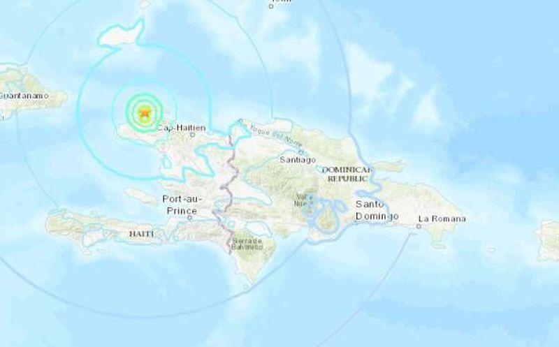 Reportan sismo magnitud 5.9 en Haití