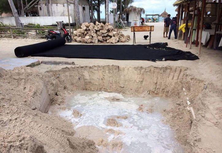 Las excavaciones que se realizarán en Holbox será parte de la estructura de captación de aguas pluviales. (Cortesía)