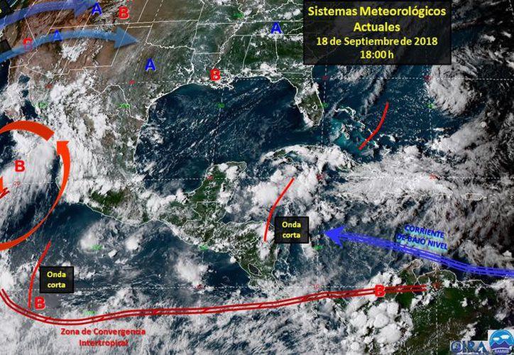 se prevé que canal de baja presión que ingrese a la Península de Yucatán. (Internet)