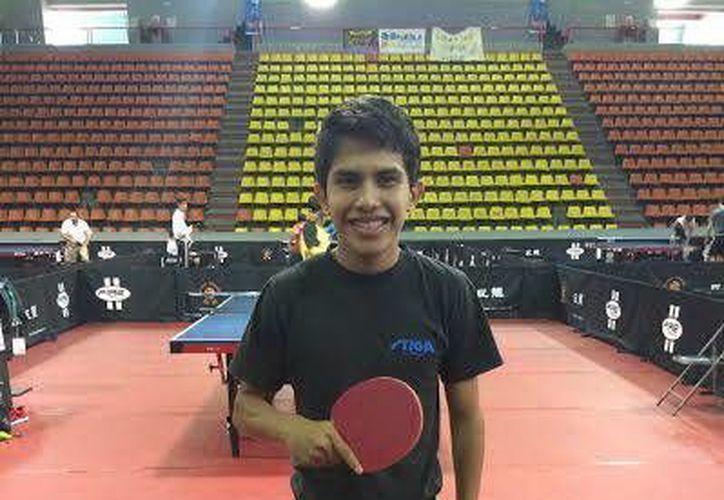 Ricardo Villa es uno de los seleccionados yucatecos de tenis de mesa. (Milenio Novedades)