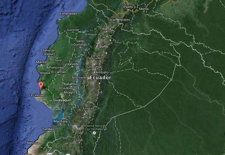 Se desconoce cuál era el peso del cargamento con cocaína decomisado en Ayangue, Ecuador. (Google Maps)