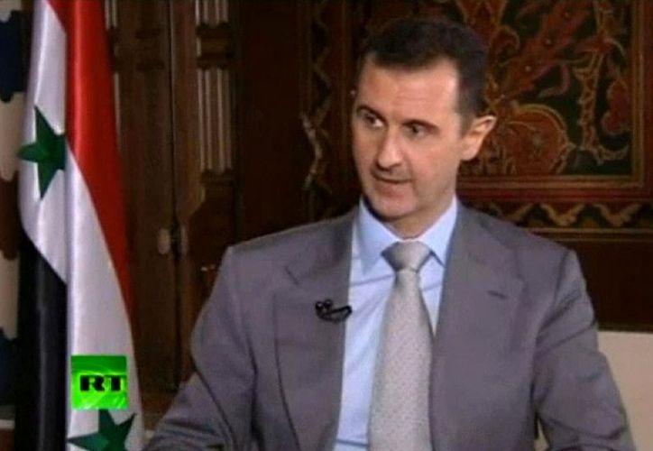 "Entrevistado por un programa de tv ruso, Assad rechazó que sea ""títere de Occidente para irme al Oeste o a otro lugar"". (Agencias)"