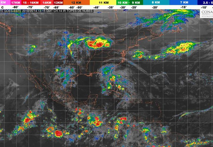 Durante el día de hoy se espera la formación de tormentas en Playa del Carmen. (Conagua)