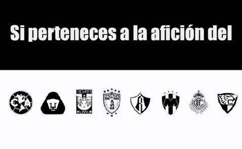 La iniciativa Estadios negros promueve protestas durante los partidos de liguilla por los 43 normalistas de Ayotzinapa desaparecidos. (Milenio)