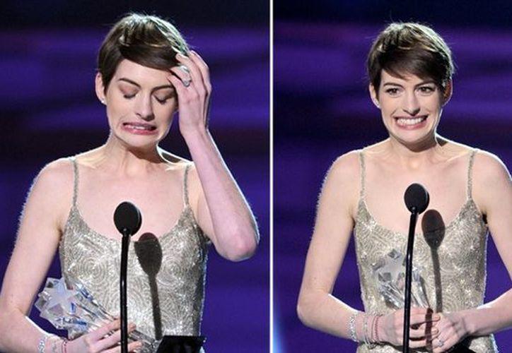 Hathaway, nominada también al premio Oscar, mencionó que el momento era agridulce. (Agencias)