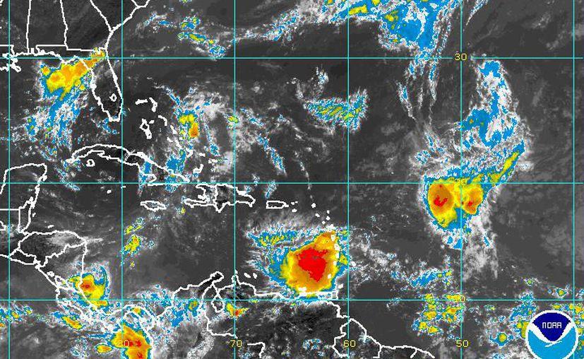 La posición actual de Harvey afecta a las Antillas Menores, la parte baja del Mar Caribe. (NOAA)
