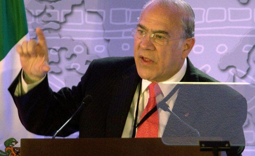 El secretario general de la OCDE, José Ángel Gurría Treviño, realizó una visita al país en la que mantuvo una reunión con José Antonio Meade, titular de la Secretaría de Hacienda. (Notimex)