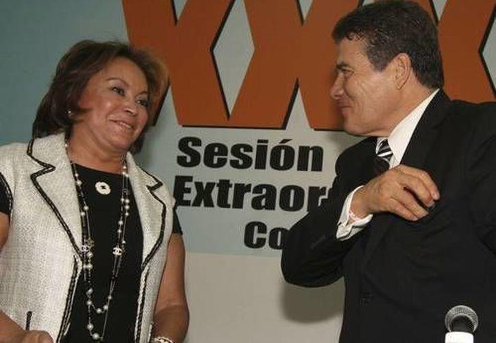 Juan Díaz de la Torre, secretario general del SNTE, ratificó el apoyo a Elba Esther. (www.jornada.unam.mx/Archivo)