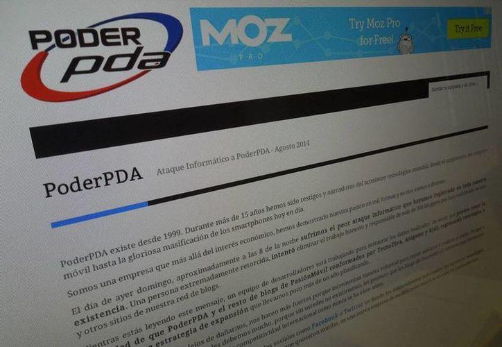 Poder PDA publicó en su página de inicio un comunicado al respecto. (Foto: Especial)