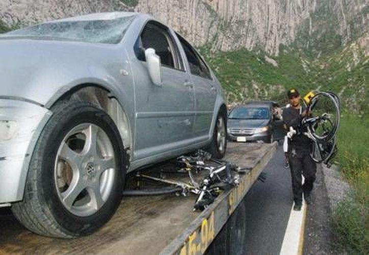 El accidente fatal de ciclistas ocurrió en el interior del parque ecológico La Huasteca, en Monterrey. (Milenio)