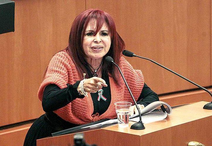 Layda Sansores sólo acudió a cuatro de 14 sesiones del pleno, y se le descontaron 57 mil pesos de su dieta. (Excelsior)