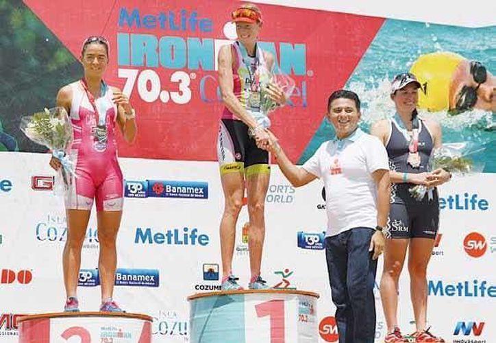 Leanda Cave, de nacionalidad británica, ganó el primer lugar de la categoría élite. (Irving Canul/SIPSE)