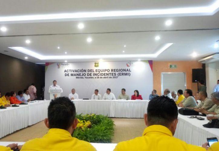 Activan el Equipo Regional de Manejo de Incidentes del Sureste. (Redacción/SIPSE)