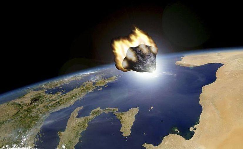 Recreación del paso del asteroide 2012 DA14 facilitada por el Observatorio Astronómico de Mallorca. (EFE)