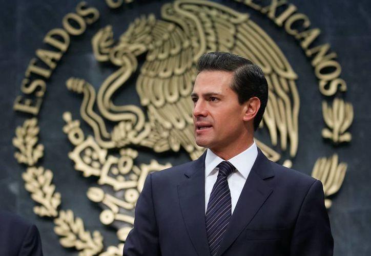 El presidente Enrique Peña Nieto pidió a los senadores aprobar las reformas en materia de seguridad pública. (Presidencia)