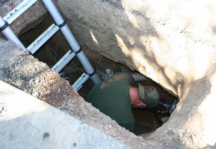 El pasado 7 de agosto, agentes localizaron en Nogales un túnel que aún estaba en proceso de construcción. (EFE/Archivo)