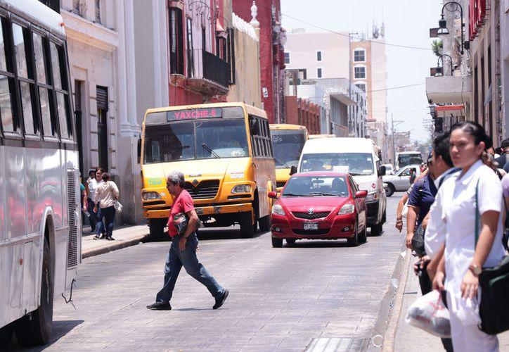 El centro de Mérida es una zona donde más se siente el bochorno. (Novedades Yucatán)