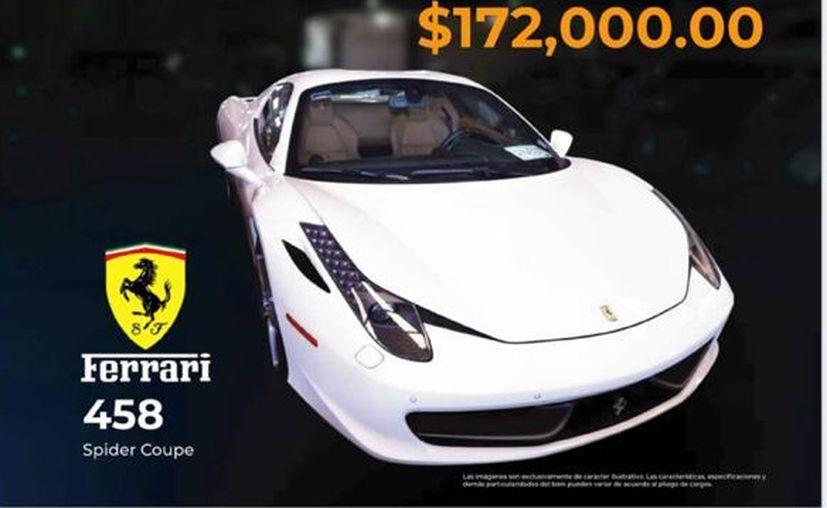 El Ministerio de Economía y Finanzas, no sacó del catálogo de remate de bienes los vehículos del empresario.