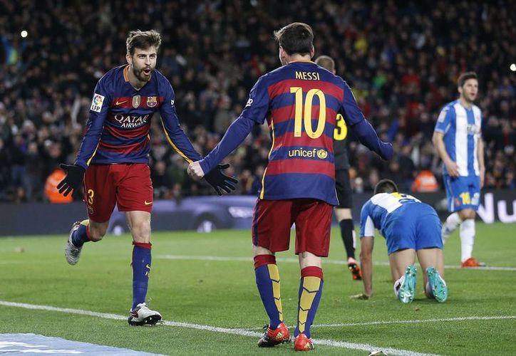 Lionel Messi consiguió un doblete y una asistencia en partido donde el Barcelona venció al Espanyol por 6-1 en la Copa del Rey. (Imágenes de AP)