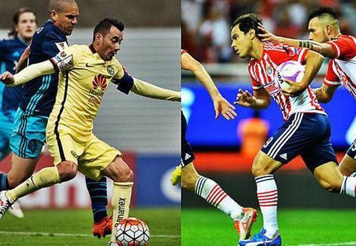 Ruben Sambueza (América) y Omar Bravo (Chivas) serían los únicos referentes del clásico nacional que se jugará esta noche, en el estadio Omnilife. (Milenio Digital)