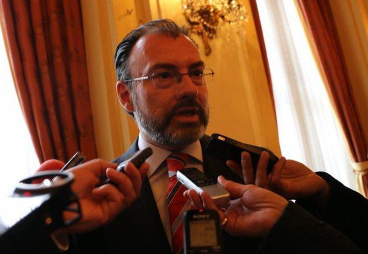 Luis Videgaray se encuentra en Canadá para dialogar con diversos funcionarios del gobierno de Justin Trudeau. (Notimex)