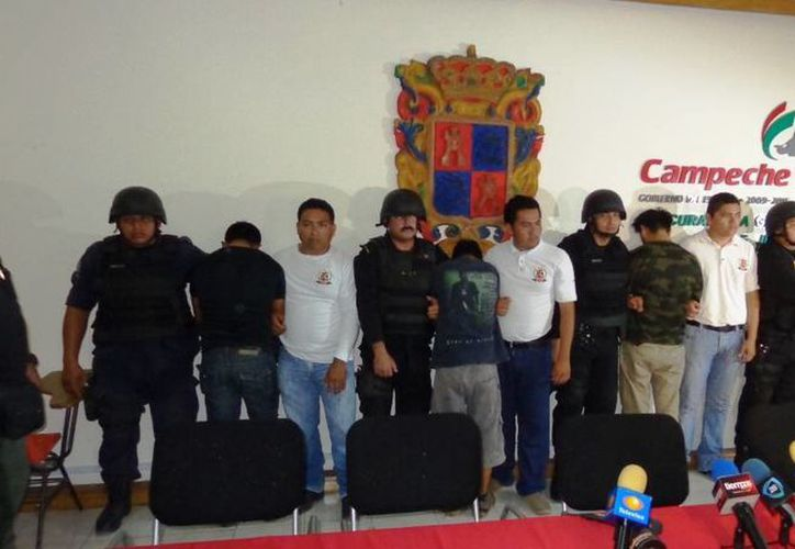 Tres de los plagiarios fueron detenidos en el municipio de Champotón. (Procuraduría del Estado de Campeche)