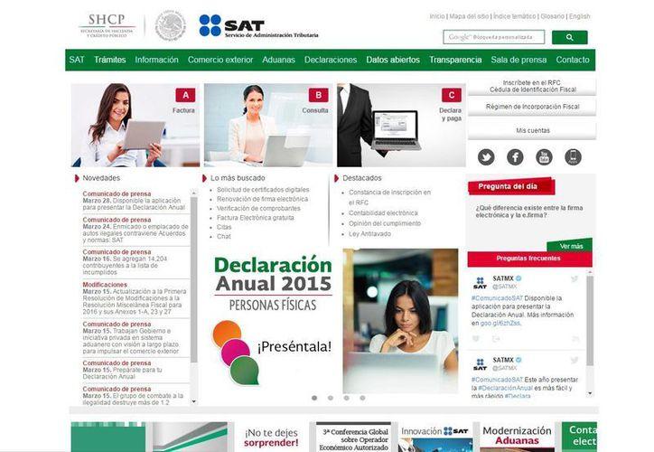 El SAT invita a los contribuyentes a  a presentar su Declaración Anual, con el programa disponible en el Portal del SAT. (sat.gob.mx)