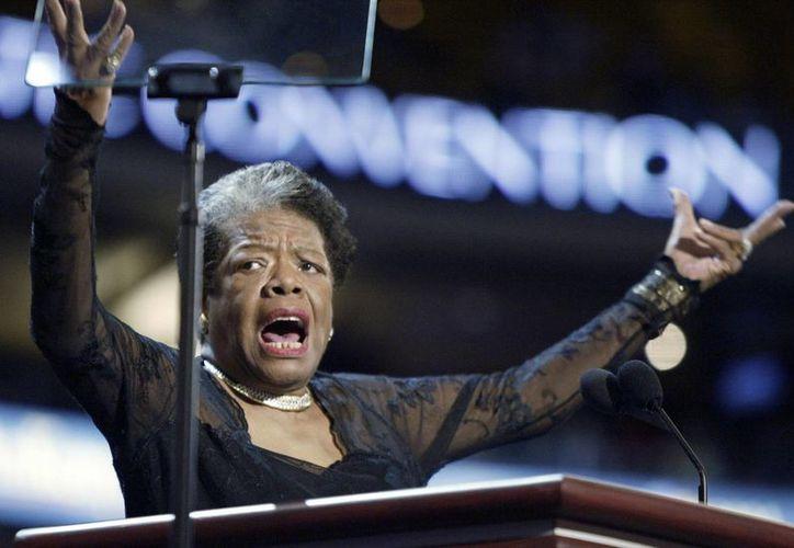 Angelou durante la Convención Nacional Democrática en Boston, Estados Unidos en 2007. (Foto: AP)