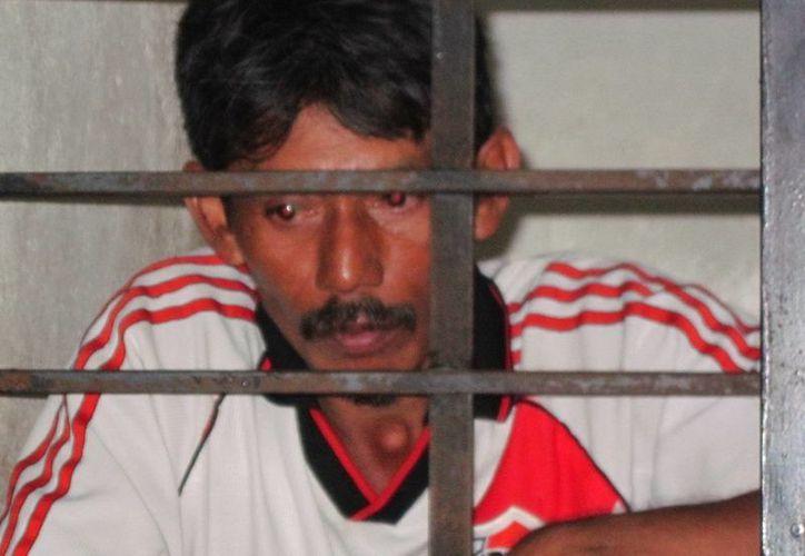 Luis Manuel García Rivera fue detenido con las prendas íntimas dentro de un bulto que llevaba consigo. (Foto SSP)
