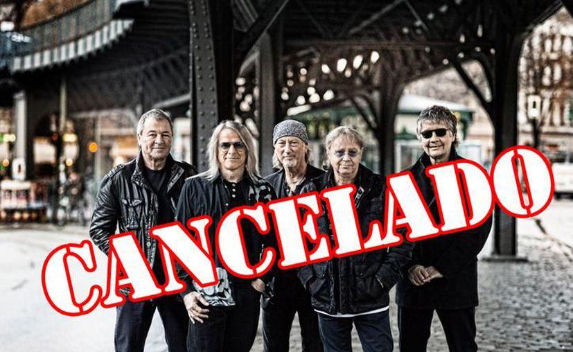 La legendaria banda británica Deep Purple se iba a presentar en Cancún. (Milenio Novedades)
