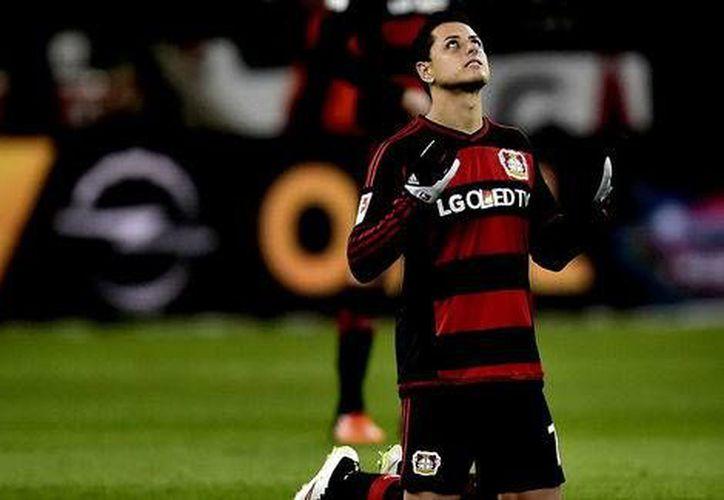 Javier Hernández anotó por última ocasión ante el Borussia Dortmund, el pasado 1 de octubre del presente año.(Foto tomada de Milenio Digital)