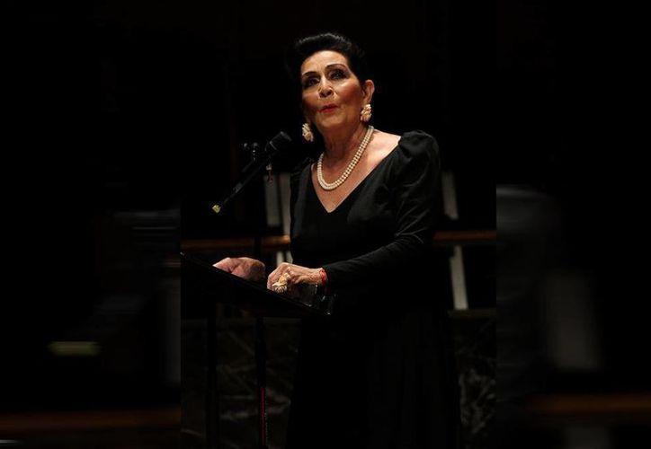 El próximo 28 de octubre, en el Casino Español, la actriz Irma Dorantes recibirá la medalla 'Ricardo Palmerín 2014'. (Archivo Notimex)
