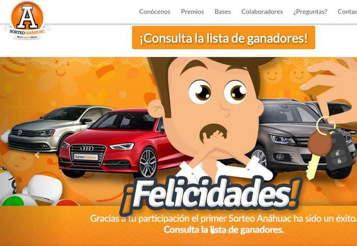 En el sitio web del Sorteo Anáhuac se puede consultar la lista completa de ganadores. (sorteoanahuac.mx)